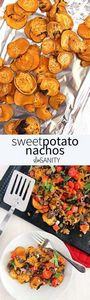 Sweet potato nachos loaded with ta - 300 Healthy Dinner Recipes - RecipePin.com