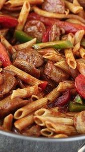 Skillet Italian Sausage & Pepp - 300 Healthy Dinner Recipes - RecipePin.com