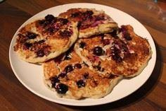 pancakes blueberry blueberries ban - 300 Healthy Dinner Recipes - RecipePin.com
