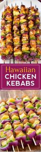 Hawaiian Chicken Kebabs - 300 Healthy Dinner Recipes - RecipePin.com