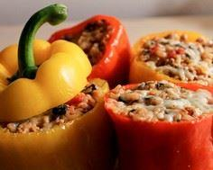 Ground Turkey Stuffed Peppers- The - 300 Healthy Dinner Recipes - RecipePin.com