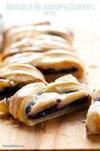 Vegan Braided Blueberry Danish | 2 - 300 Healthy Dinner Recipes - RecipePin.com