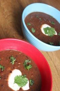 Spicy Mexican Black Bean Soup Reci - 300 Healthy Dinner Recipes - RecipePin.com