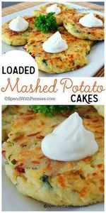 Loaded Mashed Potato Cakes! These  - 300 Healthy Dinner Recipes - RecipePin.com