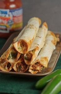 Baked Chicken and Spinach Flautas - 300 Healthy Dinner Recipes - RecipePin.com