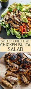 Grilled Chilli Lime Chicken Fajita - 300 Healthy Dinner Recipes - RecipePin.com