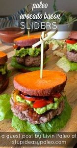 Paleo Avocado Bacon Sliders #lowca - 300 Healthy Dinner Recipes - RecipePin.com