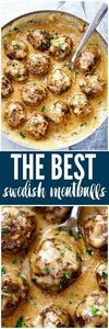 The Best Swedish Meatballs are smo - 300 Healthy Dinner Recipes - RecipePin.com
