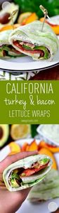 California Turkey and Bacon Lettuc - 300 Healthy Dinner Recipes - RecipePin.com