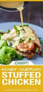 Honey Mustard Stuffed Chicken - a  - 300 Healthy Dinner Recipes - RecipePin.com