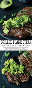 Juicy Grilled Flank Steak topped w - 300 Healthy Dinner Recipes - RecipePin.com