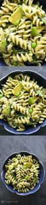 Pesto Pasta with Spinach and Avoca - 300 Healthy Dinner Recipes - RecipePin.com