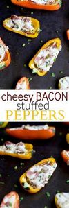 CHEESY BACON STUFFED PEPPERS, ever - 300 Healthy Dinner Recipes - RecipePin.com