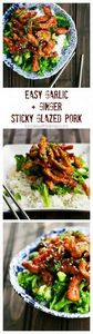 Easy Garlic and Ginger Sticky Glaz - 300 Healthy Dinner Recipes - RecipePin.com