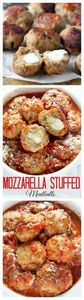 30 minute mozzarella stuffed meatb - 300 Healthy Dinner Recipes - RecipePin.com