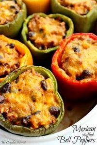 Mexican Stuffed Bell Peppers ~ The - 300 Healthy Dinner Recipes - RecipePin.com