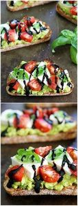 Caprese Avocado Toast Recipe on tw - 300 Healthy Dinner Recipes - RecipePin.com
