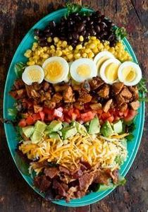 BBQ Chicken Cobb Salad - 300 Healthy Dinner Recipes - RecipePin.com
