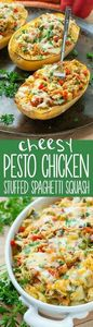 Cheesy Pesto Chicken and Veggie St - 300 Healthy Dinner Recipes - RecipePin.com