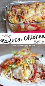 Easy Fajita Chicken Bake Recipe -  - 300 Healthy Dinner Recipes - RecipePin.com