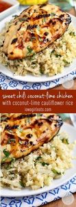 Sweet Chili Coconut-Lime Grilled C - 300 Healthy Dinner Recipes - RecipePin.com