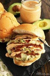 Chicken Avocado Burger with Chipot - 300 Healthy Dinner Recipes - RecipePin.com