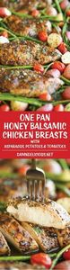 Honey Balsamic Chicken Breasts and - 300 Healthy Dinner Recipes - RecipePin.com