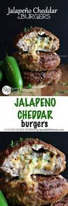 Jalapeno Cheddar Burgers! These ar - 300 Healthy Dinner Recipes - RecipePin.com