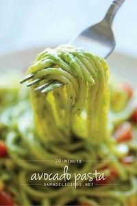 Avocado Pasta - The easiest, most  - 300 Healthy Dinner Recipes - RecipePin.com