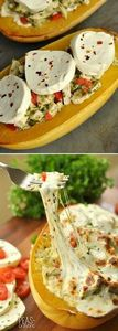 Cheesy Pesto Chicken Stuffed Spagh - 300 Healthy Dinner Recipes - RecipePin.com