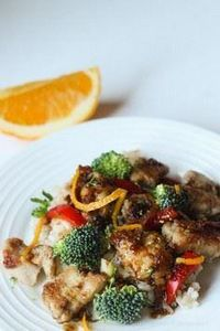 Crispy Orange Chicken - 300 Healthy Dinner Recipes - RecipePin.com