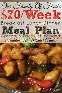 A complete meal plan to feed a fam - 300 Healthy Dinner Recipes - RecipePin.com
