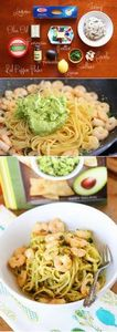 Shrimp & Avocado Pasta. Easy a - 300 Healthy Dinner Recipes - RecipePin.com