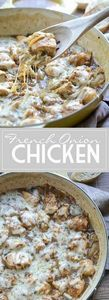 French Onion Chicken | www.mothert - 300 Healthy Dinner Recipes - RecipePin.com