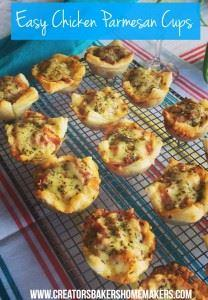 Chicken Parmesan Cups - 300 Healthy Dinner Recipes - RecipePin.com