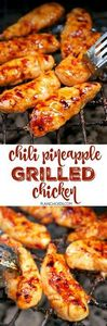 Chili Pineapple Grilled Chicken -  - 250 Heart Healthy Recipes - RecipePin.com