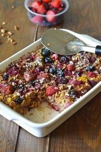 Healthy Baked Berry Oatmeal. This  - 250 Heart Healthy Recipes - RecipePin.com