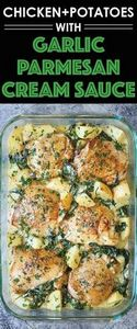 Chicken and Potatoes with Garlic P - 250 Heart Healthy Recipes - RecipePin.com