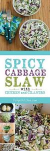 Spicy Cabbage Slaw with Chicken an - 250 Heart Healthy Recipes - RecipePin.com