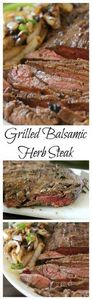 Grilled Balsamic Herb Steak - this - 250 Heart Healthy Recipes - RecipePin.com