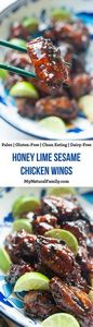 Honey Lime Sesame Chicken Wings Re - 250 Heart Healthy Recipes - RecipePin.com
