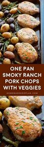 One Pan Smoky Ranch Pork Chops and - 250 Heart Healthy Recipes - RecipePin.com