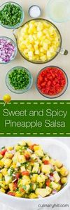 Sweet and Spicy Pineapple Salsa is - 250 Heart Healthy Recipes - RecipePin.com