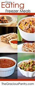 40 Clean Eating Freezer Meals #cle - 250 Heart Healthy Recipes - RecipePin.com