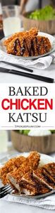 Baked Chicken Katsu - Not only is  - 235 Japanese Recipes - RecipePin.com