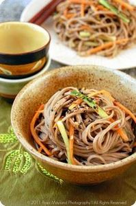 cold soba noodle salad with a hint - 235 Japanese Recipes - RecipePin.com