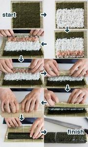 How To Make Sushi with Step-by-Ste - 235 Japanese Recipes - RecipePin.com