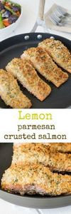 Lemon parmesan crusted salmon. Sea - 250 Lemon Recipes - RecipePin.com
