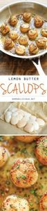 Lemon Butter Scallops - 250 Lemon Recipes - RecipePin.com
