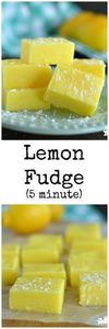 Lemon Fudge only takes 5 minutes a - 250 Lemon Recipes - RecipePin.com